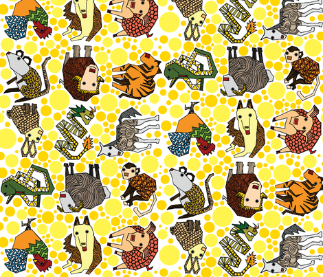 Chinese Zodiac fabric by ravenous on Spoonflower - custom fabric