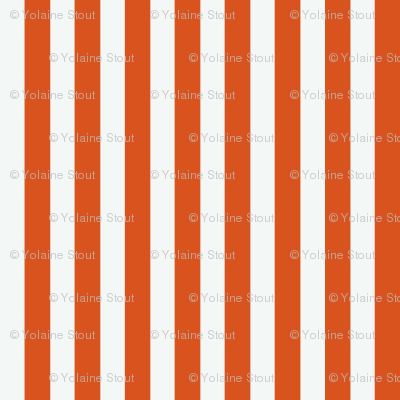 Orange and White Stripes