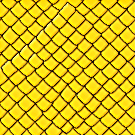 Yellow Garter Snake Skin Scales fabric by yomarie on Spoonflower - custom fabric
