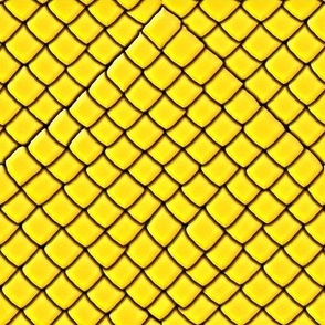 Yellow Garter Snake Skin Scales
