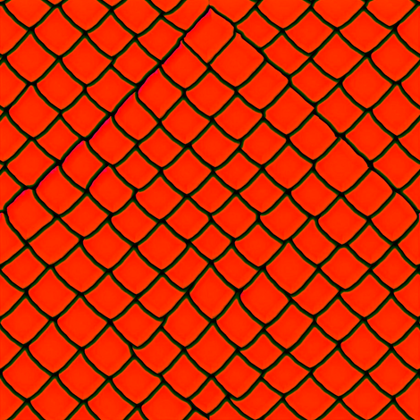 Orange-red Snake Skin Scales fabric by yomarie on Spoonflower - custom fabric