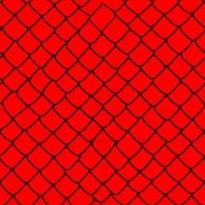 Red Garter Snake Skin Scales