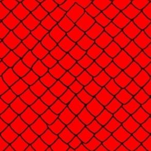 Red Garter Snake Skin Scales