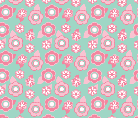 Sugar Cherry Blossom fabric by alainasdesigns on Spoonflower - custom fabric