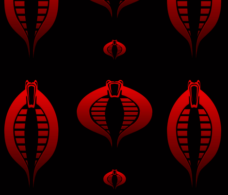 Baroness Joe Mark of the Serpent GI cobra fabric by warmcanofcoke on Spoonflower - custom fabric