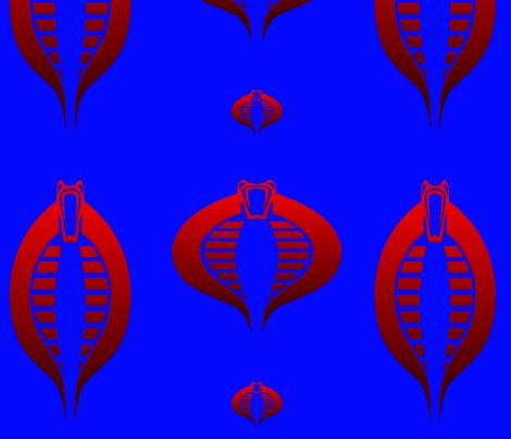 Baroness Joe Mark of the Serpent GI cobra in Blue fabric by warmcanofcoke on Spoonflower - custom fabric
