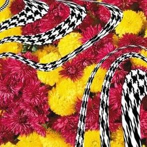 Floral + Houndstooth