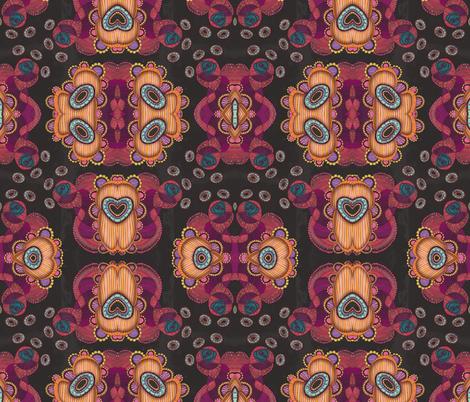Jellyfish, Night fabric by janet_antepara on Spoonflower - custom fabric