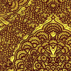 Queen Margareta's Golden Gown Brocade Imitation