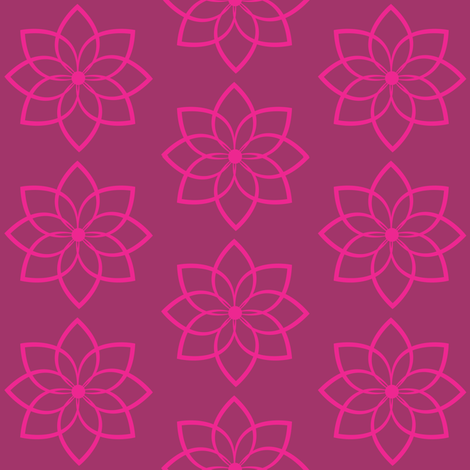 Lotus  fabric by alainasdesigns on Spoonflower - custom fabric