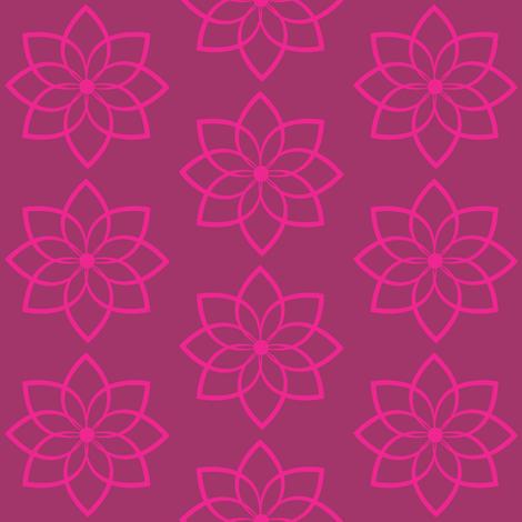Lotus  fabric by alainasdesigns on Spoonflower - custom fabric