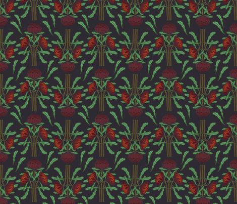 Dark red waratahs on dark gray