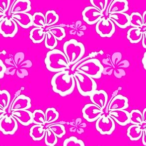 Purple Hawaiian Flowers Pattern