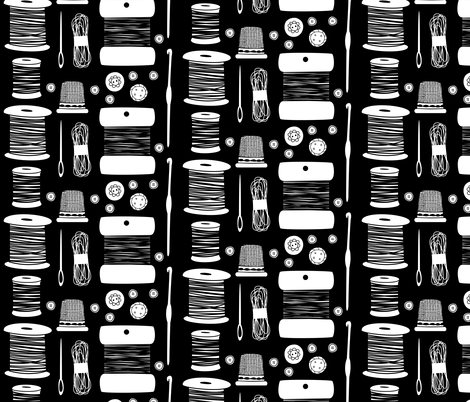 sewingtools fabric by elinvanegmond on Spoonflower - custom fabric