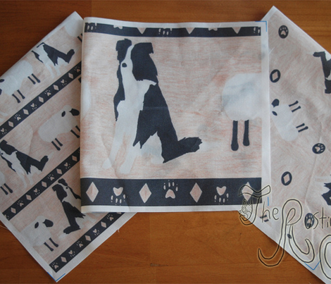 Primitive Border Collie and sheep border - small