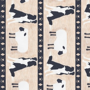 Primitive Border Collie and sheep border - Large length