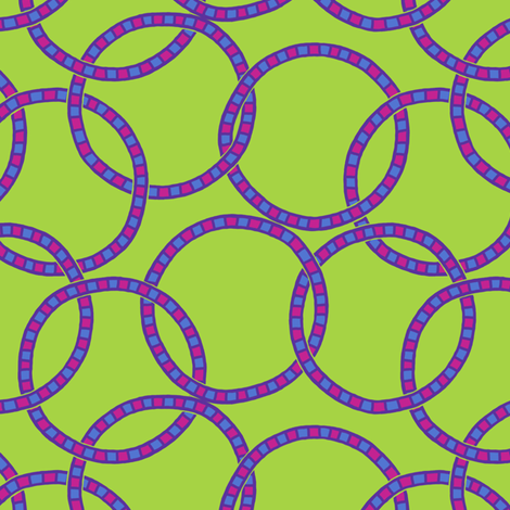 Neon Jenny Rings fabric by siya on Spoonflower - custom fabric