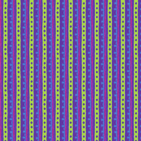 Neon Jenny Stripe fabric by siya on Spoonflower - custom fabric