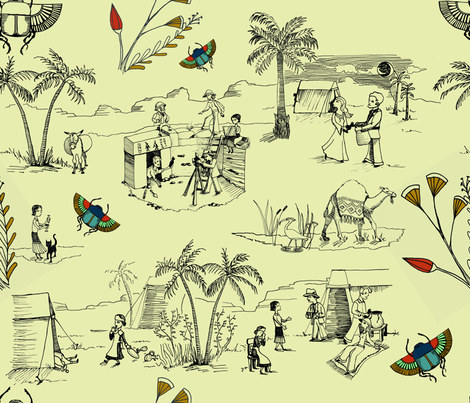 Mad Dogs and Englishmen fabric by violet's_pet_spider on Spoonflower - custom fabric