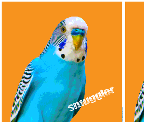 budgie smuggler cushion panel fabric by catandvee on Spoonflower - custom fabric