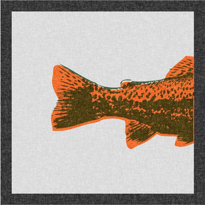 Trout Pillow Panels