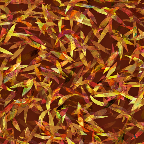 The falling leaves drift . . . on a brown background fabric by anniedeb on Spoonflower - custom fabric