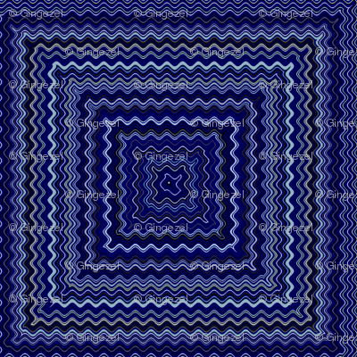 Navy Squares Cheater Quilt © Gingezel™ 2013
