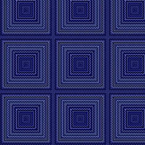 Navy Squares Cheater Quilt © Gingezel™ 2013 fabric by gingezel on Spoonflower - custom fabric
