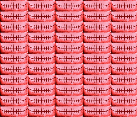 ROSEY ROBOT  MOUTH  fabric by bluevelvet on Spoonflower - custom fabric