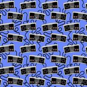 Video Game Controller Print - Original Blue