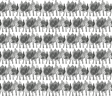 Doodle Trees fabric by linsart on Spoonflower - custom fabric