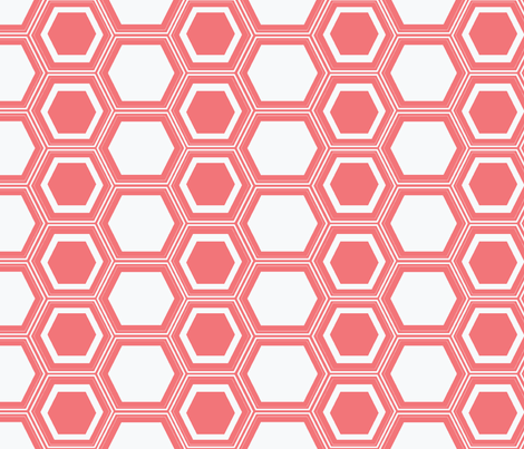 honeycombed Coral fabric by megancarn on Spoonflower - custom fabric