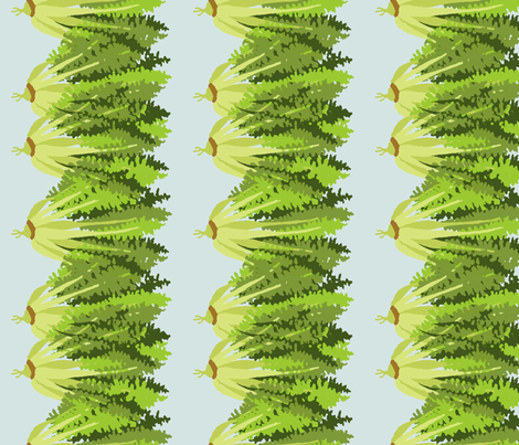 endive_blue fabric by lfntextiles on Spoonflower - custom fabric