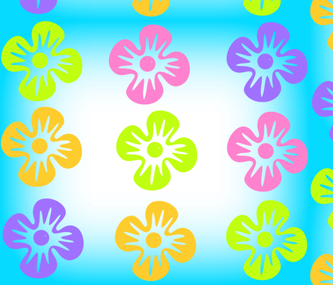 Hawaiian Paradise Flowers fabric by musicaldesigner on Spoonflower - custom fabric