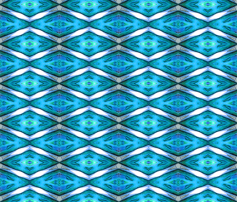 Blue Chevron Diamonds fabric by koalalady on Spoonflower - custom fabric