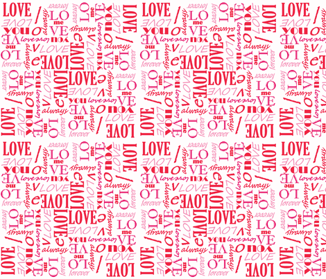 loverletterspink fabric by missekate on Spoonflower - custom fabric