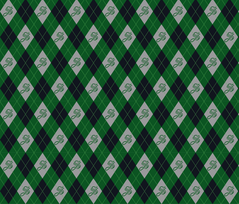 Snake Magic Argyle fabric by clonistudios on Spoonflower - custom fabric