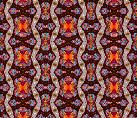 Layered  Roving 4 fabric by koalalady on Spoonflower - custom fabric