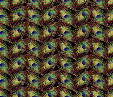 Peacock Feathers - Single - ZigZag fabric by bonnie_phantasm on Spoonflower - custom fabric