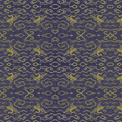 Golden Crane - purple and gold-ch fabric by materialsgirl on Spoonflower - custom fabric