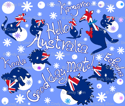 Hello Australia Aussie Animals Good day mate
