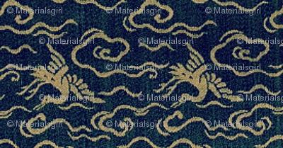 Crane - lapis and turquoise