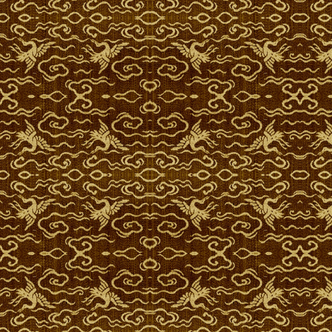 Cranes - bronze &amp; brass fabric by materialsgirl on Spoonflower - custom fabric
