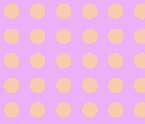 Lilac_and_Orange_Polka_Dots fabric by heaven-lee on Spoonflower - custom fabric