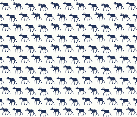 Blue Mooses fabric by emfaulkner on Spoonflower - custom fabric