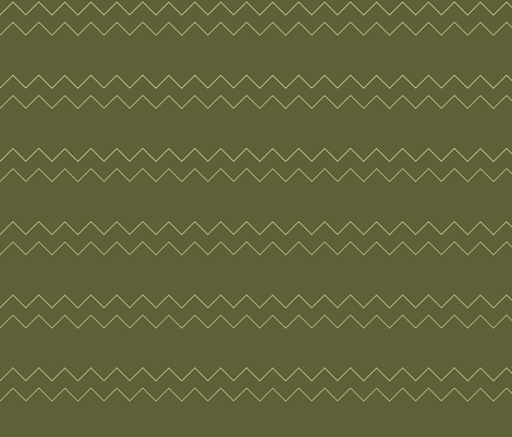 Zigzag in green fabric by faulknermay on Spoonflower - custom fabric