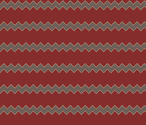 Zigzag in red and grey fabric by emfaulkner on Spoonflower - custom fabric