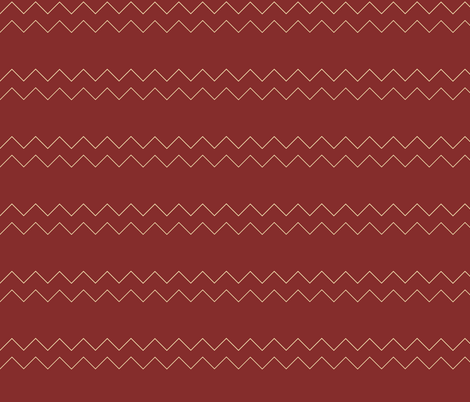Zigzag in red fabric by emfaulkner on Spoonflower - custom fabric