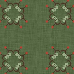 Spindle flower tile green