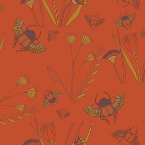 Scarab Floral Scarlet